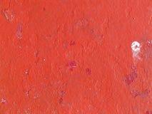 поверхность красного цвета краски металла стоковое изображение