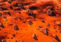 Поверхность красного цвета Марса планеты Стоковая Фотография