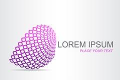 Поверхность логотипа стилизованная сферически с абстрактными формами Стоковое Фото
