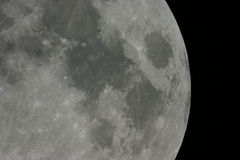 поверхность луны Стоковая Фотография RF