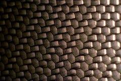 Поверхность металла в форме полигонов Стоковая Фотография