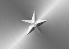 Поверхность металла с врезанной звездой Стоковое фото RF