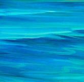 Поверхность моря ровная, крася маслом на холсте Стоковое Изображение RF
