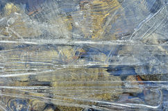 Поверхность пестротканого льда Стоковое фото RF