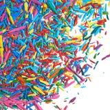 Поверхность покрытая с обломоками графита карандаша Стоковые Фото
