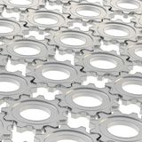 Поверхность покрытая с шестернями cogwheel Стоковая Фотография