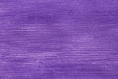 Поверхность древесины сосны покрашенная с фиолетовым акрилом Стоковая Фотография RF