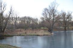 Поверхность реки осени Стоковые Фотографии RF