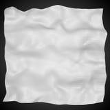 Поверхность сброса 3D белого цвета на черной предпосылке EPS10 Стоковое Изображение RF