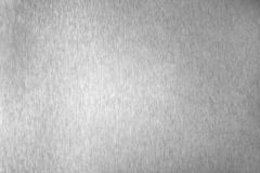 Поверхность серебряного металла сияющая пустая, monochrome сияющая металлическая предпосылка, почищенный щеткой черно-белый конец стоковые фотографии rf