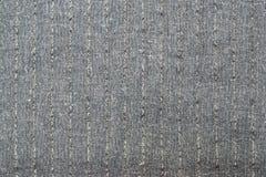 Поверхность серой striped ткани Стоковое Изображение