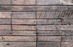 Поверхность старых деревянных предпосылки и текстуры стены панели Стоковые Фотографии RF