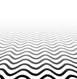 Поверхность текстурированная перспективой волнистая бесплатная иллюстрация