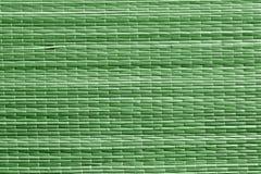 Поверхность циновки соломы зеленого цвета Стоковые Фотографии RF