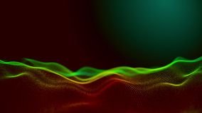 Поверхность цифров популярной абстрактной предпосылки движения развевая r 3d одушевило 4K иллюстрация вектора