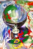 поверхность шарика цветастая стеклянная Стоковое Изображение RF