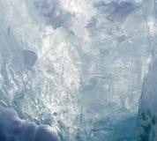 Поверхность льда в backlight Стоковые Изображения