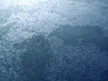 Поверхность льда озера Стоковая Фотография