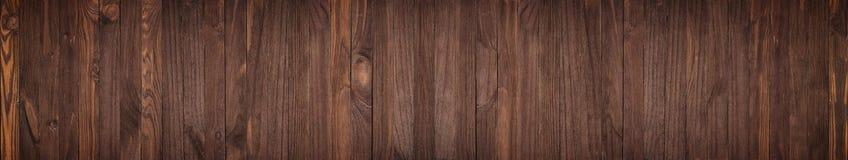 Поверхность Grunge с деревянной предпосылкой текстуры, панорамой стоковое изображение rf