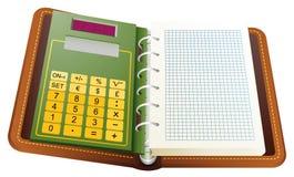Повестка дня кольца с калькулятором Стоковое Изображение RF