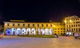 Повесть Santa Maria аркады в Флоренсе Стоковое фото RF