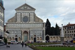 Повесть Santa Maria базилики в Флоренсе - Италии Стоковые Фото