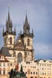 повелительница церков наше tyn prague Стоковая Фотография RF