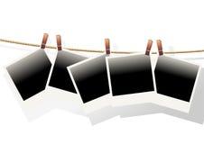повиснутые поляроиды Стоковое Изображение