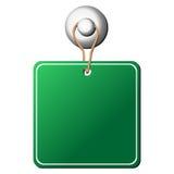 повиснутый квадрат ярлыка Стоковое фото RF