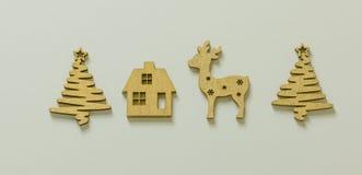 Повод рождества с деревянными диаграммами Стоковые Изображения