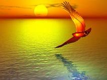 поворачивать красного цвета орла иллюстрация штока