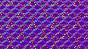 Поворотные трейнги и красочные сетки на пурпурном фоне бесплатная иллюстрация