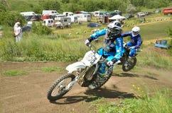 Повороты гонщика Motocross 2 Стоковые Фото