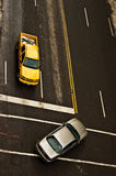 поворот автомобиля левый стоковая фотография rf
