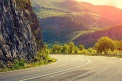 Поворот дороги горы Стоковые Изображения