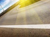 поворот дороги ландшафта Стоковое Изображение