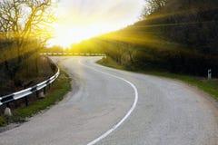 поворот дороги Стоковые Изображения RF