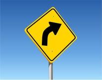 поворот дорожного знака Стоковое Фото