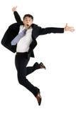 Поворотливый перескакивать бизнесмена Стоковое Изображение RF