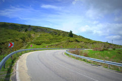 поворот Испании tenerife дороги Канарских островов Стоковое Фото