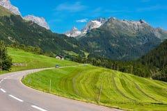 Поворот дороги в горах Стоковое Изображение