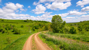 Поворот дороги колейности Стоковое фото RF