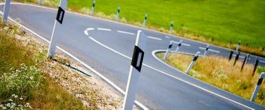 Поворот дороги Стоковые Фотографии RF