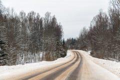 Поворот дороги Стоковые Фото