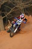 поворот скольжения мотоцикла Стоковая Фотография RF