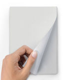 поворот страницы кассеты руки стоковые изображения