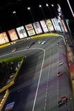 поворот charlotte 3 автомобилей nascar Стоковые Изображения RF