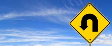 поворот u знака Стоковое Изображение RF