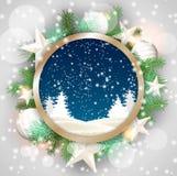 Повод рождества, абстрактный ландшафт зимы внутри иллюстрация вектора