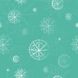 Поводы зимы, картина снежинок безшовная также вектор иллюстрации притяжки corel Стоковое Фото